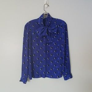 Vintage Sterling Cooper Pussy Bow Blouse